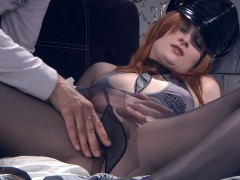 ferro network tube Kinky redhead puts on barely black hose and police uniform for a raw fuck: Watch this ginger-haired babe pulling up her sheer dark tights and police uniform getting ready for some costumed nylon sex in 2some. Gerhard helps red hot babe Bertie A to dress up before starting worshipping her sleek nyloned legs and touching her tempting pantyhosed pussy. He obviously cannot get enough of her fine black pantyhose, and her costume makes him go crazy too.video